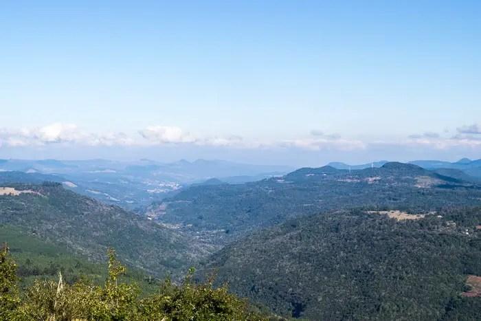Vista do vale a partir do Hotel Laje de Pedra