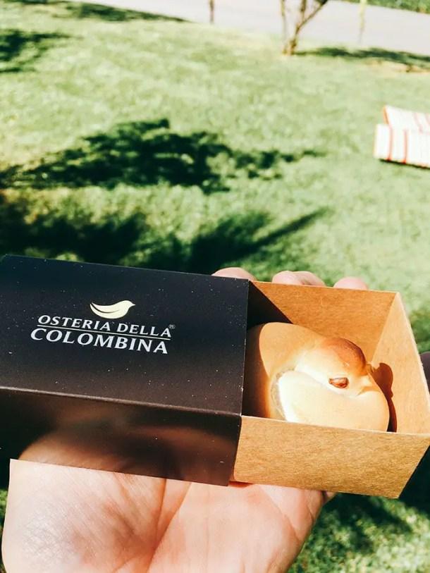 Pombinha de pão - Colombina - Ostaria della colombina