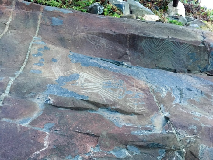 Inscrições rupestres no Costão do Santinho