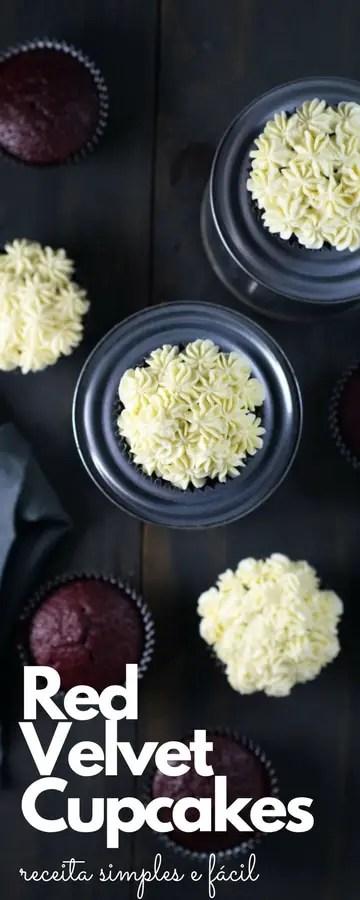 Red Velvet Cupcakes receita fácil | Malas e Panelas