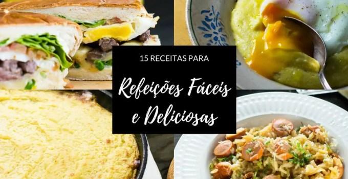 15 Receitas para Refeições Fáceis e Deliciosas