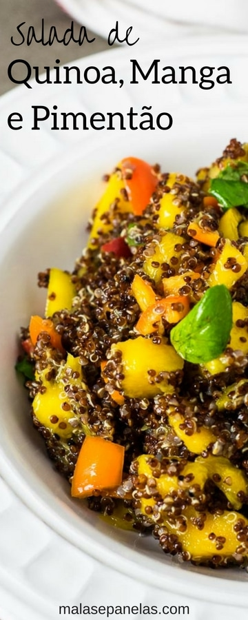 Salada de Quinoa Manga e Pimentão | Malas e Panelas