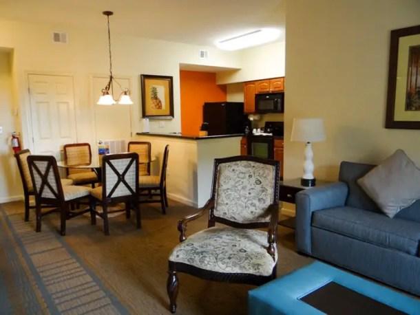 Sala de jantar do apartamento do Lake Buena Vista Resort em Orlando