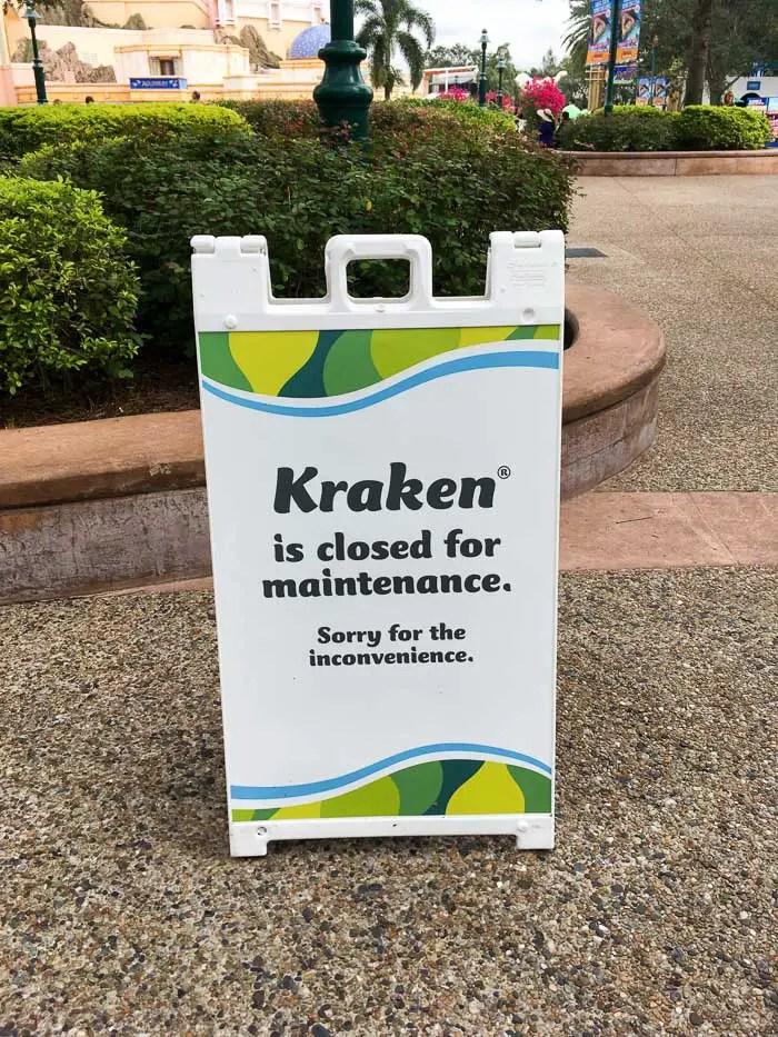 SeaWorld Orlando - Kraken fechada para manutenção