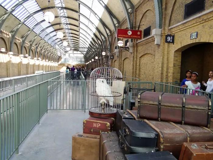 Plataforma 9 3/4 da estação de Kings Cross