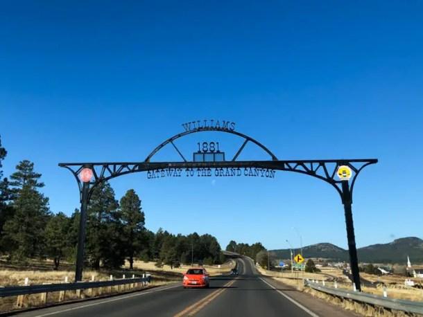 Chegando em Williams, Arizona - Do Grand Canyon a Las Vegas pela Route 66