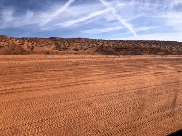 Estrada para o Upper Antelope Canyon
