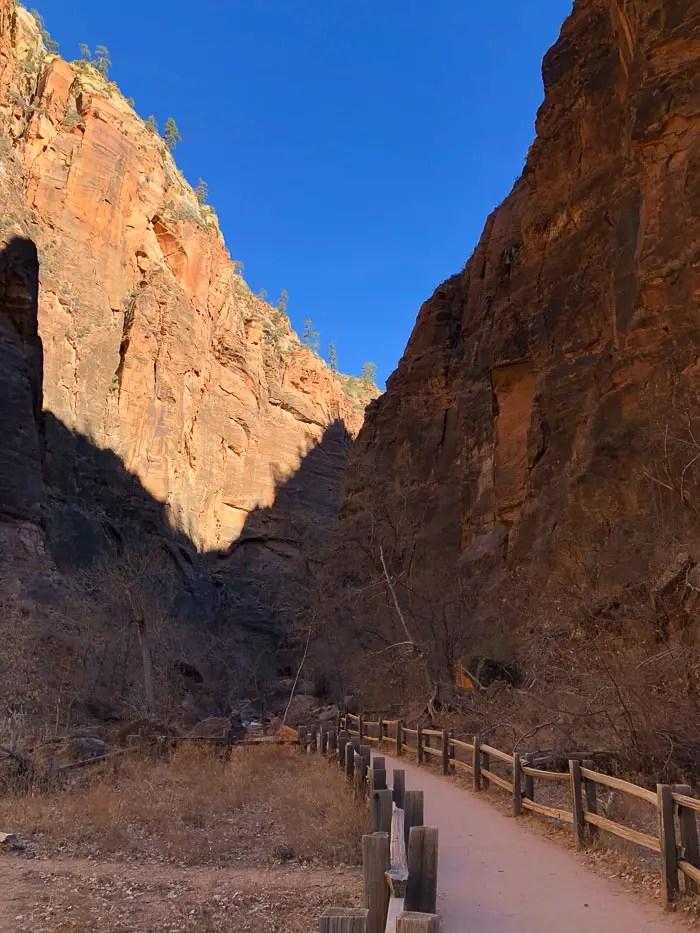 Zion National park no inverno