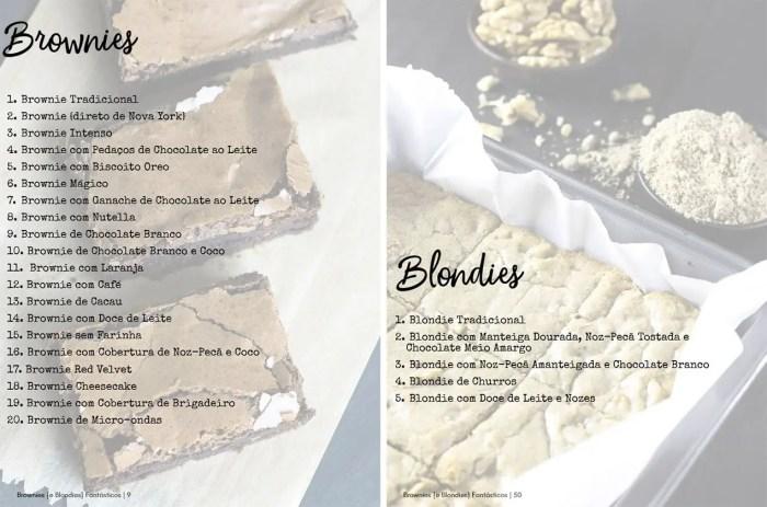Receitas de Brownies e Blondies