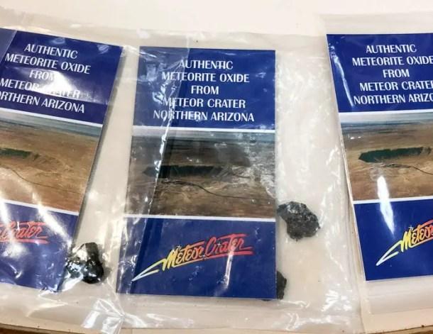 Pedaço de meteorito - Centro de Visitantes de Meteor Crater