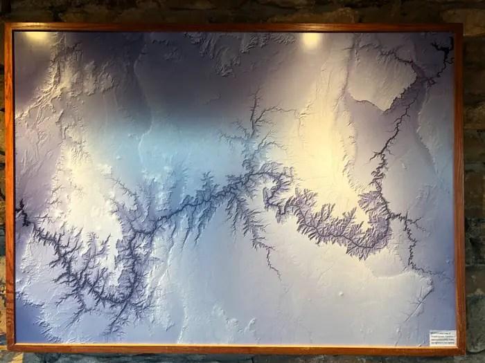 Uma foto (em relevo) de todo o Grand Canyon