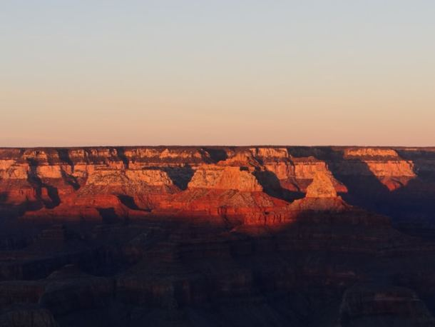 por do sol no grand canyon