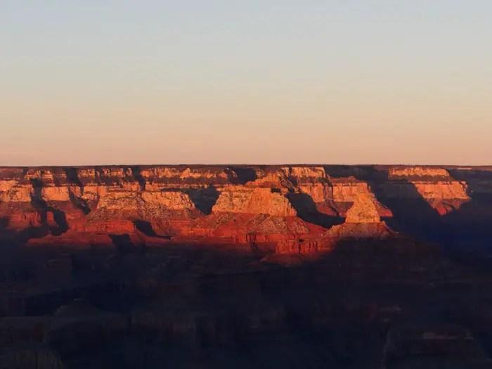 por do sol no grand canyon