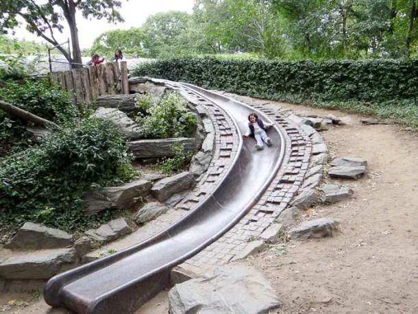 Central Park com crianças