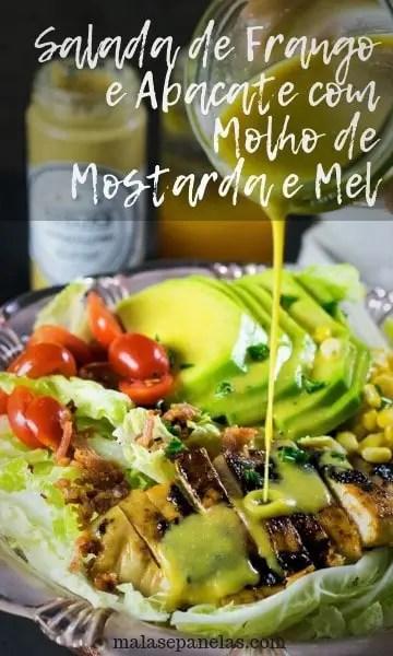 Salada de Frango e Abacate com Molho de Mostarda e Mel