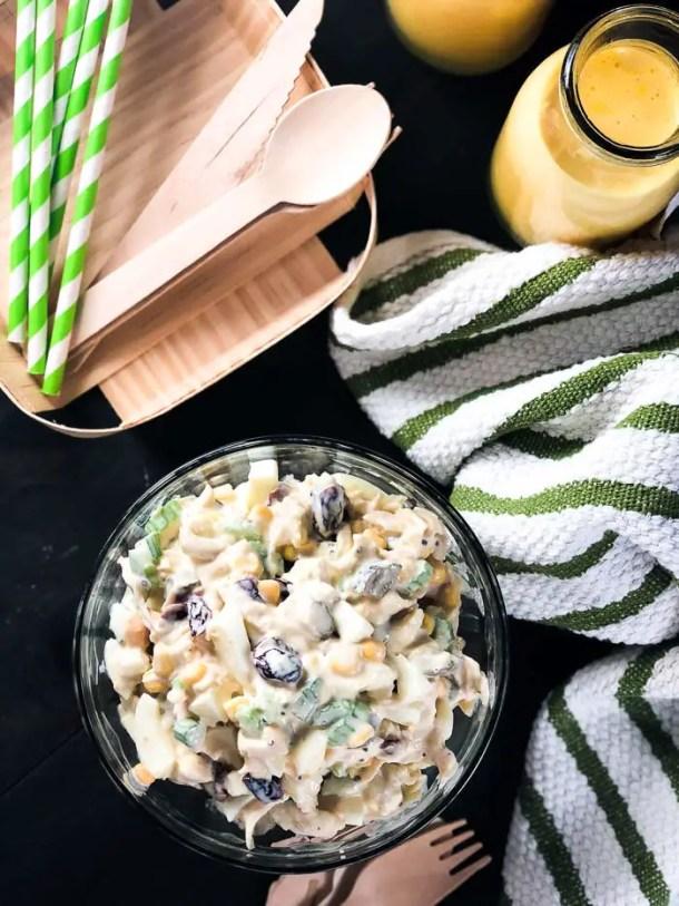Salada de Frango, Milho e Ovos | Malas e Panelas