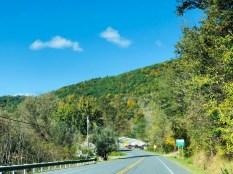 Estrada entrando em Vermont