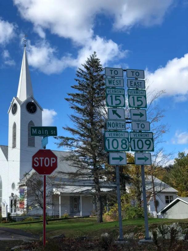 Placas de trânsito em Vermont