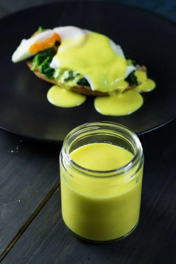 Molho Holandês sem ovo e sem manteiga - Molho Holandês light