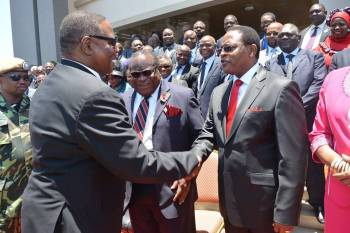 Peter Mutharika and Lazarus Chakwera