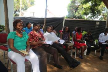 Malawi world vision drills staff on Child Protection