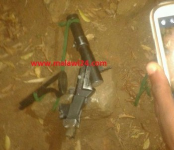 Chanco students destroyed a gun one of the police officers carried.