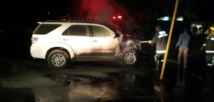 Jessie Kabwila vehicle up in flames (8)