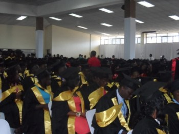 A cross section of the graduates.