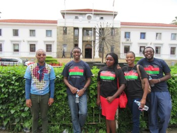 IMCS Malawi Delegation in Malawi Flag T-shirts and a South Afrocan Student (L)-Picture Courtesy of Sidonia Dzikolidaya (ECM)