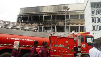Ministry of Agriculture Office fire