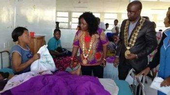 Mayor Desmond Bikoko and Deputy Mayor Juliana Kaduya