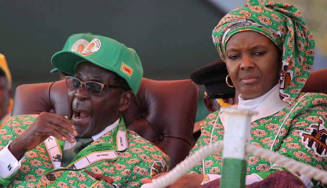 Mugabe motorcade in two accidents Saturday; biker crashes while Grace injured