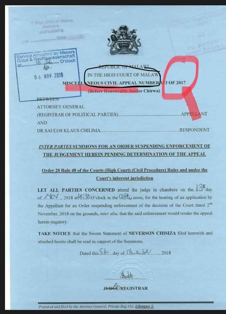 Kasambara faults AG on UTM appeal | Malawi 24