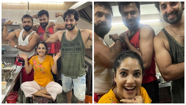 Kudumbavilakku Serial Fame Noobin Shares Funny Photos With Co-stars    Massellians in the Family Lantern Series;  Body with muscle show of eights in the middle of the winter, photo out