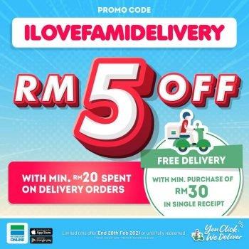 Kod Promosi Diskaun RM5 Tambahan FamilyMart ONLINE