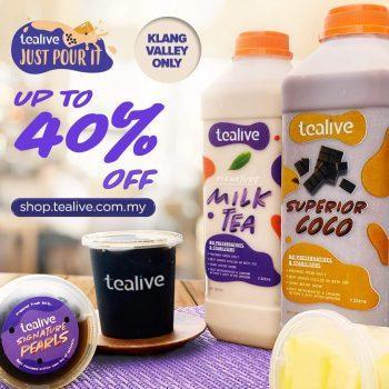 Tealive DISKAUN 40% Sebotol Just-Pour-It & Cawan Eco Strawless PERCUMA