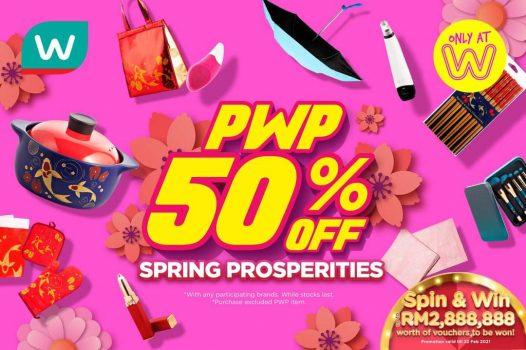 Watson's PWP Extra 50% Jualan