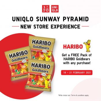 Pakej UNIQLO Sunway Pyramid PERCUMA promosi Haribo Goldbears yang sedap