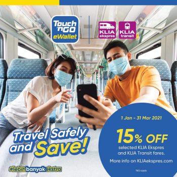 Tiket KLIA Ekspres atau KLIA Transit Diskaun 15% Tambahan