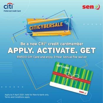 Gunakan Kad Kredit Citi & Dapatkan kad hadiah RM500 senQ Percuma