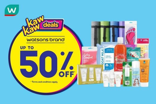 Jualan Kaw Kaw Watson's Diskaun Sehingga 50%