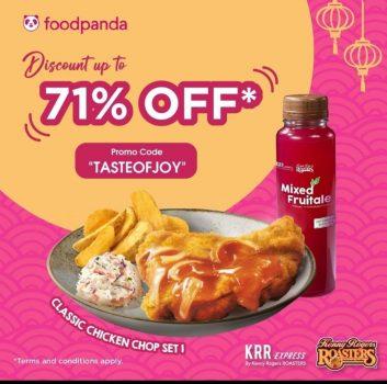 Potongan KRR hingga 71% dengan FoodPanda