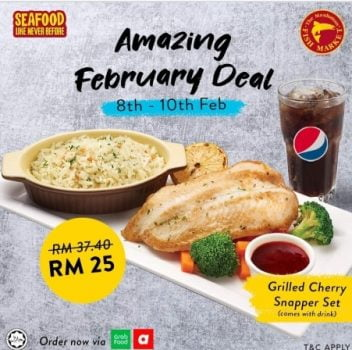Set Ikan Kakap Grilled Market Fish Market dengan harga RM25 sahaja