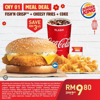 Kupon dalam talian Burger King untuk Februari / Mac 2021