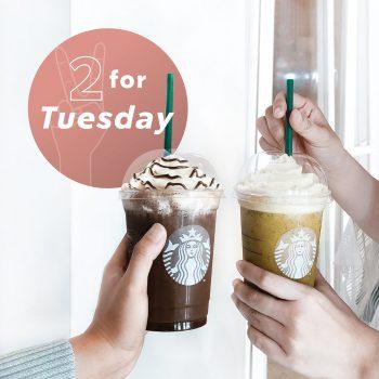 Minuman buatan tangan Starbucks 2 bersaiz Grande dengan harga RM21 sahaja