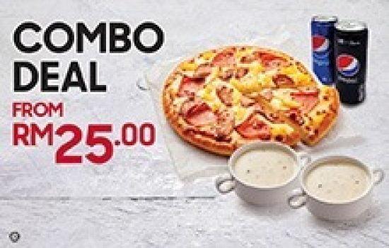 Tawaran Kombo Pizza Hut Dengan Harga RM25 sahaja