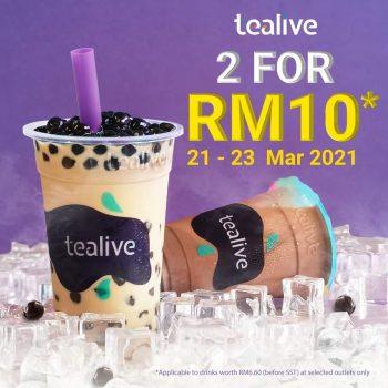 Minuman Tealive 2 Dengan Harga RM10