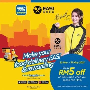 Aplikasi EASI x TouchnGo e-Wallet Diskaun RM5 Tambahan