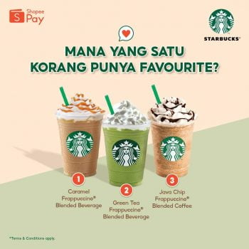 Starbucks Tambahan RM4 dengan ShopeePay