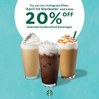 Promo Minum Starbucks Diskaun 20% untuk April Mop